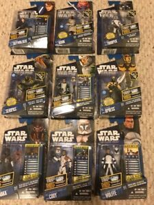 9 Hasbro Star Wars Clone Wars action figures 2011 New Sealed!