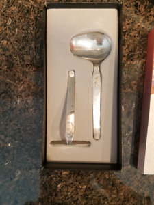 Silver infant cutlery