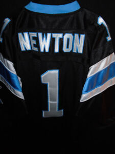 SEWN STITCHED QB CAM NEWTON PANTHERS NFL JERSEY TOP MENS 52/XL