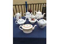 Selection tea pots. Vintage