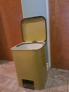 Yellow Step-On Garbage Bin $10