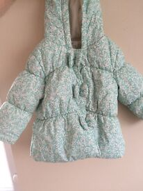 Next girls coat 12-18 months like new