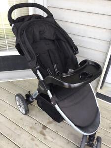 1 year old britax b agile stroller and glider board