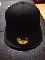 Detroit all black fitted cap