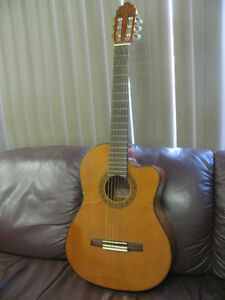 "Classical guitar ""Valencia"" with case, $75"