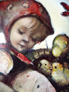 "Franciscan Nun, Berta Hummel Lithograph ""Child with Baby Chicks"" Stratford Kitchener Area image 6"