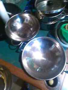 """Large 22"""" saucer and 18"""" strainer"""