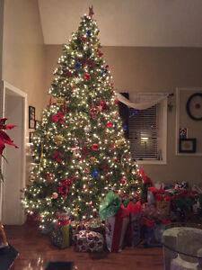 12' Artificial Prelit Christmas tree Kitchener / Waterloo Kitchener Area image 1