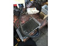 Complete set of a gilera runner vx radiator