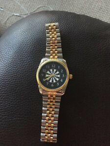 Silver and Gold watch.