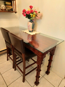 HUGE PRICE DROP! 3 piece solid wood BAR TABLE $275 or best offer