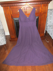 Size 20 Bill Levkoff bridesmaid dress - deep purple in color