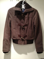 *AE coat jacket manteau tweed women XS excellent condition **