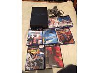 Black sony ps2 console bundle