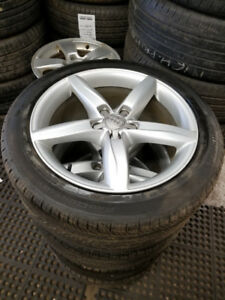 245 40 18 Michelin XIce on OEM Audi A4 S4 alloy rims 5x112
