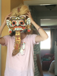 Indonesian Mask , Hand-carved and Impressive.