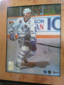 Autographed and Framed Maple Leaf Captain