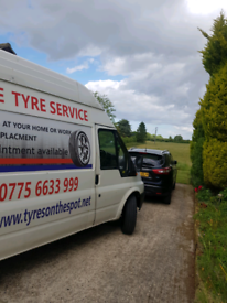 24 Hour Mobile Tyre fitting at home or work or any other location.