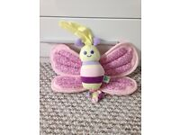 Beautiful musical and light up butterfly cot toy