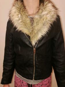 H&M Kids faux leather coat
