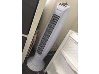 White tower fan