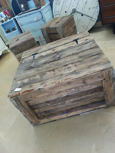 Coffee & end tables out of pallet wood