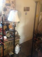 Brass Style Floor Lamp & shade good condition $20.00