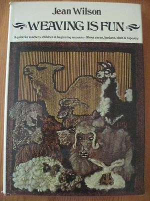 vintage WEAVING BOOK Wilson how to teach weave basket cloth beginner advanced