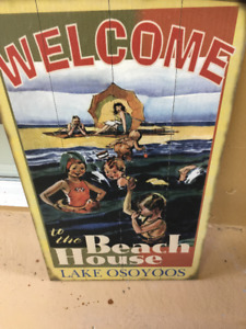 Retro Lake Osoyoos board art Spectacular Man cave, restaurant