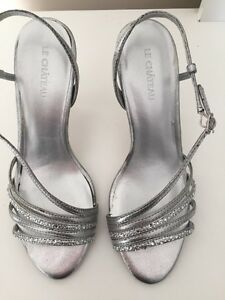 Silver sparkly  heels- size 7- NEW in box