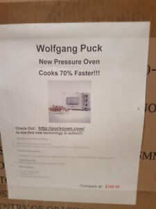 BRAND NEW WOLFGANG PUCK ROTISSERIE/PRESSURE OVEN