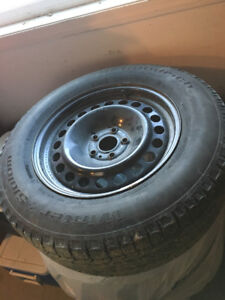 WINTER RIMS AND TIRES FOR A FORD