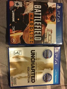 Used PS4 Games - Battlefield Hardline and Uncharted Collection