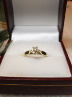 """10kt Yellow Gold Diamond """"Star Cluster"""" Engagement Ring"""