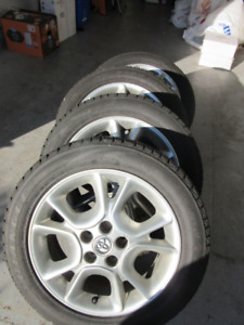 Set of Four winter tires on alloy rims
