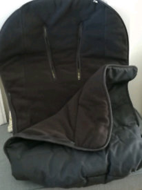 Black Mothercare buggy snug