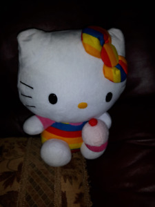 HELLO KITTY AND SHOPKINS PLUSH - BOTH IN VERY GOOD CONDITION 11""