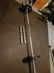 Olympic weights package like new (paid $550 new)