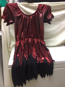 Red, Lame, Halloween Costume Dress, Woman's Medium Stretchy with