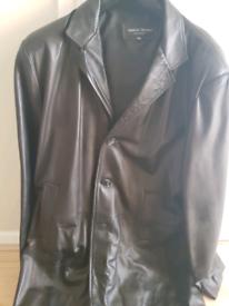 Full length lamb leather jacket xxl