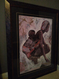 framed african / carribean art