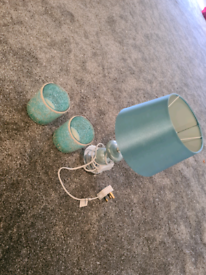Light blue lamp and electric candals