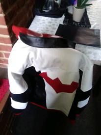 xxxl batman leather jacket