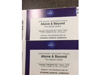 2 FLOOR STANDING TICKETS - ABOVE & BEYOND - LONDON o2 - 04/11/17