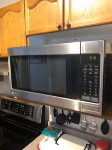 Stainless Steel Microwave and Hood Range