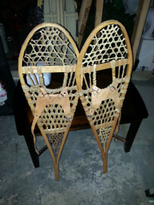 Authentic Wooden Snowshoes