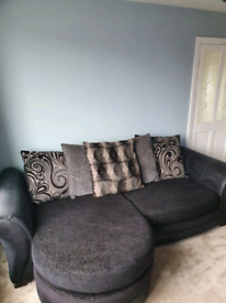 DFS 4 seater scatterback cushion sofa and armchair