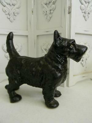 The Best Vintage Cast Iron Standing Scottie Dog Statue or Door Stop~HUBLEY (Best Doggy Doors)