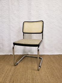 Vintage Cesca dining office chairs, Marcel Breuer style
