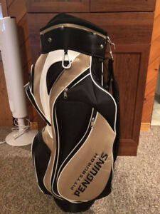 Men's Officially Licensed Pittsburgh Penguins Golf Bag.